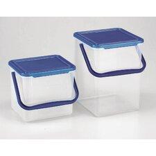 Waschmittelbehälter in Transparent