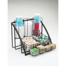 Condiment/Cup-Lid Wire Organizer