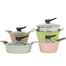 9 Piece Rainbow Pot Set with Lid