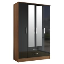 Azalea 4 Door 2 Drawer Wardrobe