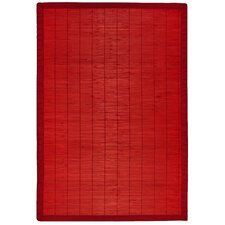 Bamboo Rugs Villager Crimson Area Rug
