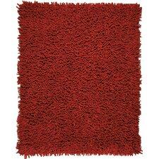 Silky Shag Crimson Area Rug