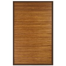 Bamboo Rugs Chocolate Area Rug