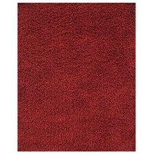 Silky Shag Crimson Rug