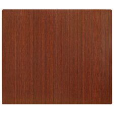 Standard Bamboo Dark Cherry Roll-Up Chairmat