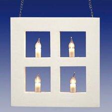 Rahmenlicht 4-flammig in Weiß