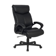 Deluxe High-Back Leather Executive Office Chair