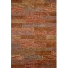 Boardwalk Orange/Tan Area Rug