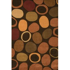 Festival Brown Circle Area Rug