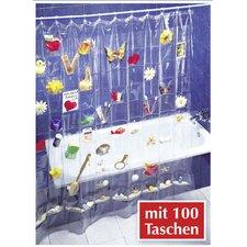 Duschvorhang mit 100 Taschen