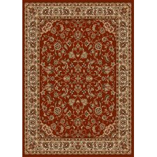 Como Bordered Vines Brick Rug