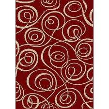 Vesuvio Swirl Red Rug