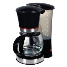 1,2L Design-Kaffeemaschine in Schwarz