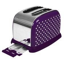 Toaster 2 Scheiben in Lila / Weiß