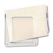 Deflect-O Wall Mount File & Chart Holder, Clear