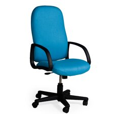 Durable High-Back Office Chair with Arms