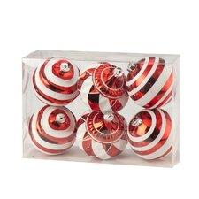 Stripe & Swirl Boxed Ornament (Set of 6)