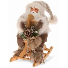"12"" Santa on Rocking Horse Holiday Accent"