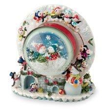 Snowman and Igloo Musical Snow Globe