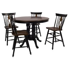 Fiddleback Counter Height Pub Table Set