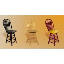 Sunset Selections Swivel Comfort Back Counter Stool