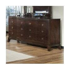 <strong>Sunset Trading</strong> Alexandra 6 Drawer Dresser