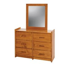 <strong>Sunset Trading</strong> Rustic 6 Drawer Dresser