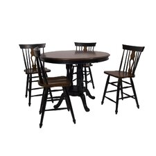 Fiddleback 5 Piece Café Table Set