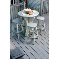 "30"" Round Patio Pub Table with Stools"