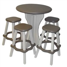 <strong>Leisure Accents</strong> 5 Piece Bar Height Dining Set