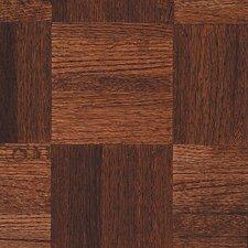 """Urethane Parquet 12"""" Solid Oak Flooring in Cinnabar"""