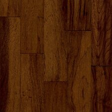 "Century Farm 5"" Hand-Sculpted Engineered Hickory Flooring in Chateau Brown"