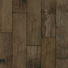 "Century Farm Hand-Sculpted 5"" Engineered Hickory Flooring in Mountain Smoke"