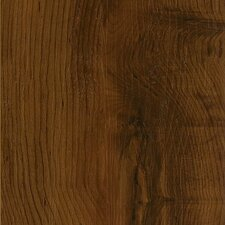 "Luxe Peruvian Walnut 6"" x 48"" Vinyl Plank in Spiced Tea"