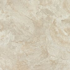 "Alterna Mesa Stone 16"" x 16"" Vinyl Tile in Chalk"