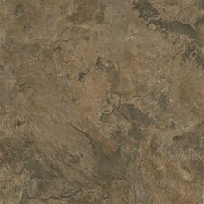 "Alterna Mesa Stone 16"" x 16"" Vinyl Tile in Chocolate"