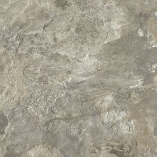 "Alterna Mesa Stone 16"" x 16"" Vinyl Tile in Light Gray"