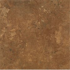 "Alterna Aztec Trail 16"" x 16"" Vinyl Tile in Terracotta"