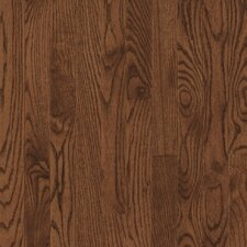 "Bristol 2-1/4"" Solid Red / White Oak Flooring in Saddle"