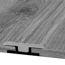 Laminate T-Moulding with Track in Ironwood-Amber