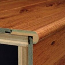 Laminate Flush Stair Nose Micro-Bevel Trim in Merbau Natural, Brazilian Cherry