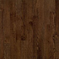 "Dundee Wide Plank 5"" Solid Red Oak Flooring in Mocha"