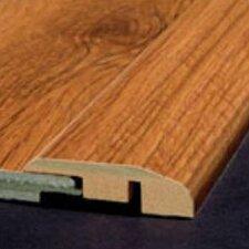 Laminate Reducer Strip with Track in Noguera Walnut