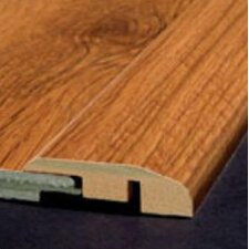 Laminate Reducer Strip Micro - Bevel with Track in Caribbean Cherry Royale, Country Cherry