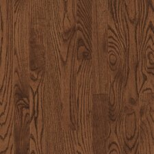 "Dundee Plank 3-1/4"" Solid Red / White Oak Flooring in Saddle"