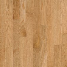 "Natural Choice Strip Low Gloss 2-1/4"" Solid Red Oak Flooring in Natural"