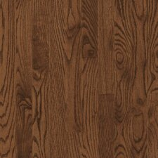 "<strong>Bruce Flooring</strong> Dundee Strip 2-1/4"" Solid Red / White Oak Flooring in Saddle"
