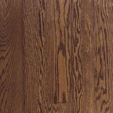 "Fulton Low Gloss Strip 2-1/4"" Solid Red/White Oak Flooring in Saddle"