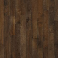"Kennedale Prestige Plank 3-1/4"" Solid Dark Maple Flooring in Cappuccino"