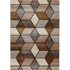 Providence Beige Angled Graph Rug